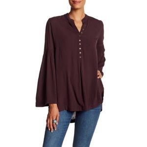 Free People small Easy Girl Top Tunic Bell Sleeves